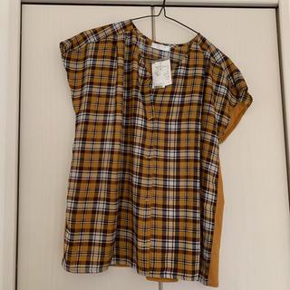 ドレスキップ(DRESKIP)のギンガムチェック ブラウス トップス シャツ M(シャツ/ブラウス(半袖/袖なし))