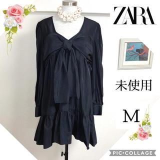 ザラ(ZARA)の未使用ZARA ザラ(M)黒のゆったりワンピース(ひざ丈ワンピース)