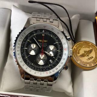 ブライトリング(BREITLING)の●ブライトリング ナビタイマーメンズ腕時計 SS AT 文字盤黒(腕時計(アナログ))