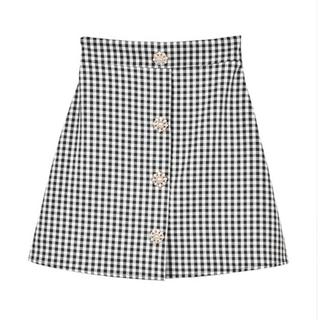 evelyn - 【8日までお値下げ中】アンミール ギンガムチェック 台形スカート