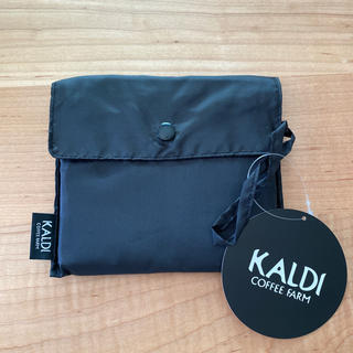カルディ(KALDI)の新品 KALDI オリジナル エコバッグ ✳︎ ブラック(エコバッグ)