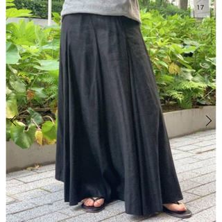 DEUXIEME CLASSE - AP  studio リネンレーヨンボリュームフレアスカート