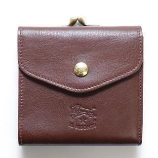 イルビゾンテ(IL BISONTE)の新品 イルビゾンテ がま口 財布 二つ折り 折財布 コインケース付き ブラウン(折り財布)