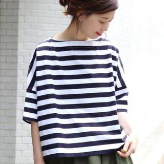 JOURNAL STANDARD - TRADITIONAL WEATHER WEAR 別注ボーダー5分袖Tシャツ