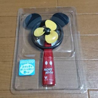 ディズニー(Disney)のしまむら  ミッキー  ミニ 扇風機  ハンディ  ファン(キャラクターグッズ)