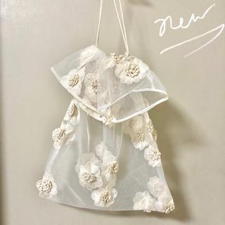 韓国 チュール バッグ オーガンジー エコバッグ シースルー リリ メッシュ