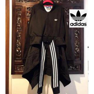 adidas - アディダス adidas フリル ジャージ ジャケット ブルゾン 変形デザイン