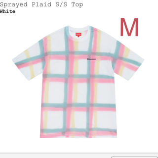 Supreme - Supreme Sprayed Plaid S/S Top M