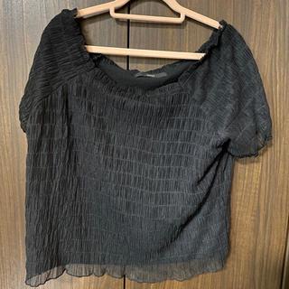 Kastane - シャーリングチュールTシャツ