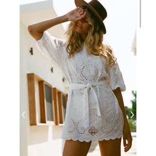 ルームサンマルロクコンテンポラリー(room306 CONTEMPORARY)のspell LALA linen shift dress(ミニワンピース)