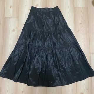 ザラ(ZARA)のZARA ザラ ナイロンスカート XS(ひざ丈スカート)