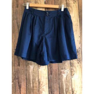 バーバリーブルーレーベル(BURBERRY BLUE LABEL)の美品 バーバリー ブルーレーベル キュロット ショートパンツ ネイビー M (ミニスカート)