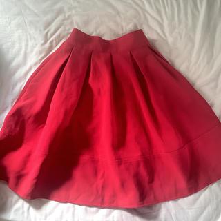 ディーホリック(dholic)のフレアスカート 赤(ひざ丈スカート)