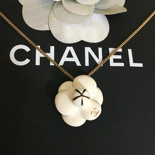 CHANEL - 正規品 シャネル ネックレス カメリア ココマーク フラワー ゴールド ロゴ 花