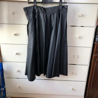ザラ(ZARA)のザラレザー調スカート(ひざ丈スカート)