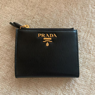 プラダ(PRADA)のPRADA 二つ折りミニ財布 Wファスナー(折り財布)