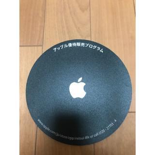 アップル(Apple)のアップル#純正#マウスパット#希少#パソコン#コレクション#黒色 #Apple(その他)