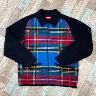 シュプリーム(Supreme)の18AW Supreme Plaid Front Zip Sweater(ニット/セーター)