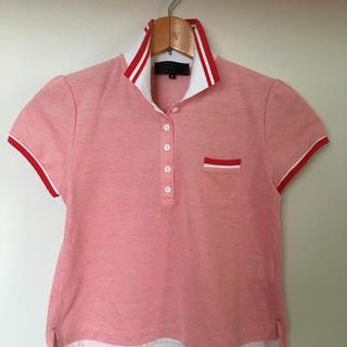 アンタイトル(UNTITLED)のポロシャツ UNTITLED 赤白(ポロシャツ)