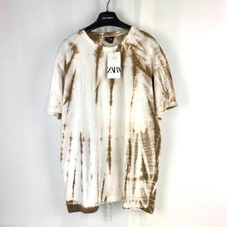ZARA - ZARA 限定 一点物デザイン タイダイ ビッグTシャツ M オーバーサイズ