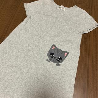 エイチアンドエム(H&M)の【中古】猫ちゃんのニットワンピ (ワンピース)