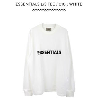 FEAR OF GOD - ESSENTIALS L/S TEE / 010 : WHITE L size