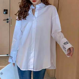 dholic - ワイドカスフ ホワイト オーバーサイズ  シャツ