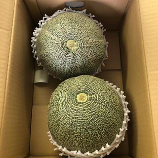 超大玉!茨城県産タカミメロン1箱2個入り④(フルーツ)