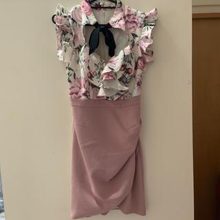 ジュエルズ(JEWELS)のJewels フラワーピンクドレス(ミニドレス)