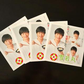 田中圭 雪若丸 リーフレット 4枚セット(男性タレント)