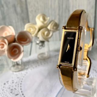 グッチ(Gucci)の【動作OK】GUCCI グッチ 1500L 腕時計 レクタンギュラ ゴールド(腕時計)