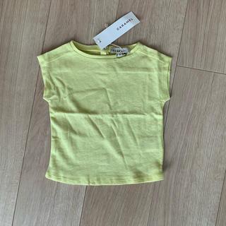 キャラメルベビー&チャイルド(Caramel baby&child )のcaramel ライム イエロー  半袖 tシャツ 新品(Tシャツ)