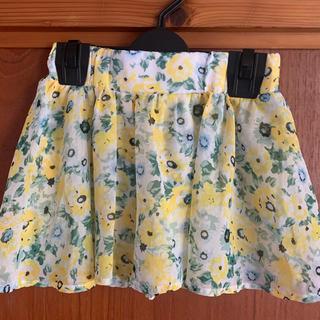 花柄スカート キュロット ・130