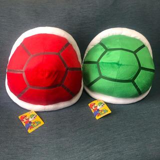 TAITO - スーパーマリオ 特大サイズぬいぐるみ こうら 全二種類セット 緑こうら 赤こうら