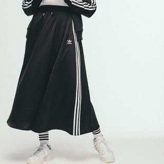 adidas - 新品 未使用 adidas originals ロングサテンスカート 黒 L