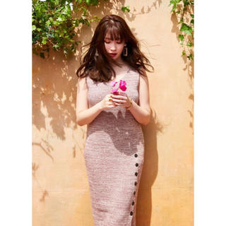 snidel - Her lip to Double V-neck Knit Dress ✨完売品