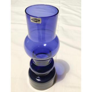 イッタラ(iittala)のNuutajarvi カイフランク バイオレット青紫 ベース(置物)