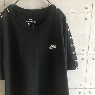 ナイキ(NIKE)のNIKE 刺繍ロゴ Tシャツ 半袖 黒 スウッシュ ゆるダボ ゆったりサイズ(Tシャツ/カットソー(半袖/袖なし))