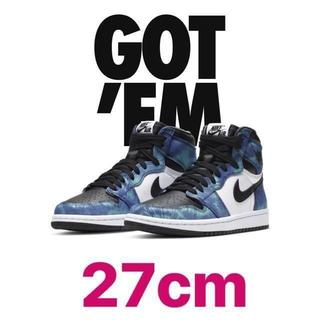 ナイキ(NIKE)のNIKE AIR JORDAN 1 HIGH OG TIE-DYE 27cm(スニーカー)