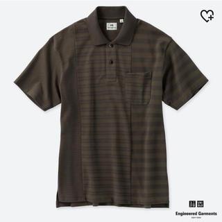 ユニクロ(UNIQLO)の【新品】ユニクロ エンジニアドガーメンツ ボーダーポロシャツ Lサイズ(ポロシャツ)