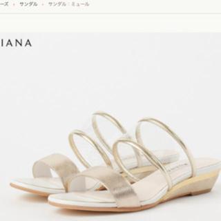 DIANA - ダイアナ サンダル 新品未使用箱付き ゴールドクリア 完売品 ウエッジ ウェッジ