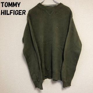 トミーヒルフィガー(TOMMY HILFIGER)の【90's】TOMMY HILFIGER コットンニット カーキ サイズM(ニット/セーター)