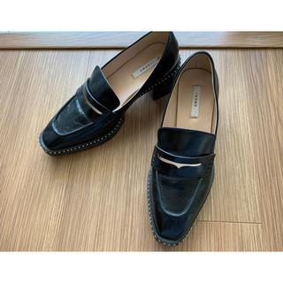 アメリヴィンテージ(Ameri VINTAGE)のアメリヴィンテージ  スタッズローファー ブラック M(ローファー/革靴)