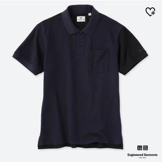 ユニクロ(UNIQLO)の【新品】ユニクロ エンジニアドガーメンツ ポロシャツネイビー Lサイズ(ポロシャツ)