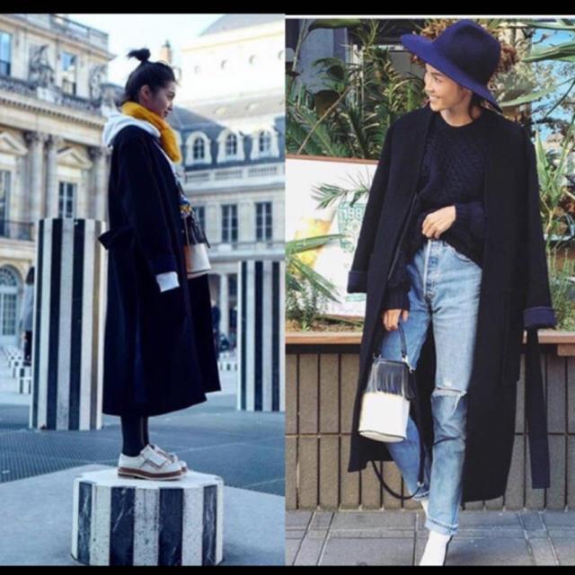 celine(セリーヌ)のceline セリーヌ ガウン コート 17AW 黒 34 フィービー 美品 レディースのジャケット/アウター(ロングコート)の商品写真