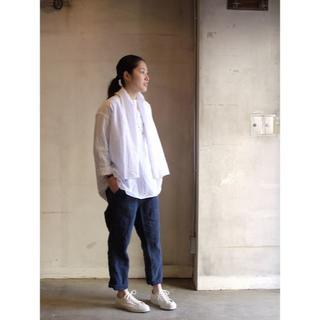 ネストローブ(nest Robe)のTOUJOURS トゥジュー リーフカットワークレースストールカラーシャツ(シャツ/ブラウス(長袖/七分))