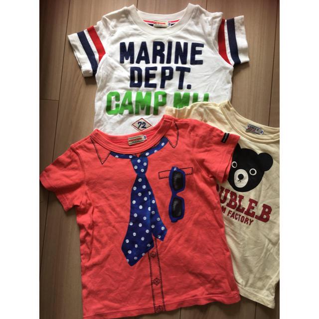 mikihouse(ミキハウス)のTシャツ3枚セット 100 キッズ/ベビー/マタニティのキッズ服男の子用(90cm~)(Tシャツ/カットソー)の商品写真