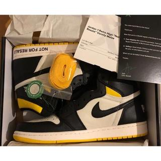 正規品 NIKE AJ1 NOT FOR RESALE 新品 27.5