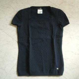 シャネル(CHANEL)のシャネル ネイビーブルー トップス(カットソー(半袖/袖なし))