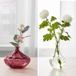 イケア(IKEA)の新品未使用 イケア 花瓶2点セット(花瓶)
